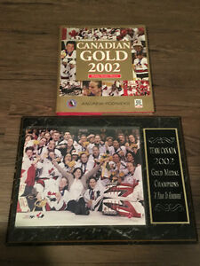 Team Canada 2002 Olympic Women's Plaque and Book Package