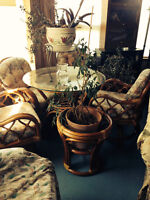 FROM WICKERLAND Wicker Table & Chairs UPDATED PRICE REDUCED!