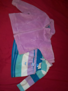 Children's Place Pink Fleece Jacket & Top 12-18mts New with Tags