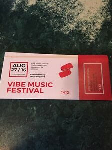 Vibe music festival tickets