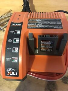 RIDGID battery charger 24 volt with battery  Strathcona County Edmonton Area image 2