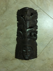 Funky native-style wooden decor piece