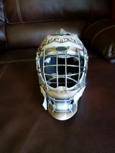 Goalie helmet.