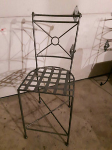 New Wrought Iron Chairs