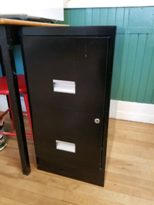 Vintage Office Desk and File Cabinet