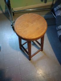 Wooden bar stool £20