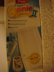 Used Playtex Diaper Genie II Essentials Diaper Disposal Pail