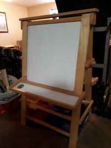 Whiteboard/Chalkboard Easel with Storage