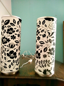 Two cylinder lamps for sale