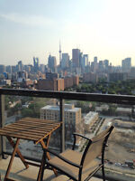 27TH FLOOR WITH BEAUTIFUL WEST CITY AND CN TOWER VIEW