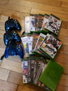 X-Box Controllers + Games.