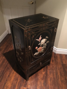 Mid Century Chinese Cabinets inlaid with Jade