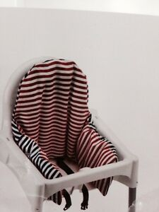 Two ikea high chair pillows and cover
