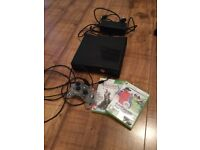 Xbox 360 slim with pad and games
