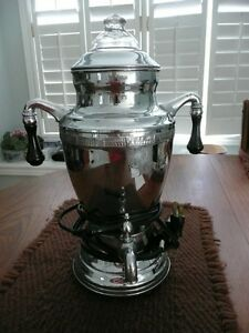 Vintage Art Deco style Coffee Percolator with spout