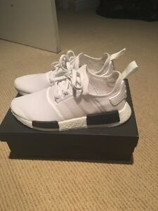 Adidas NMD size 9.5 white and black colorway