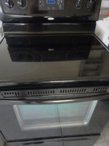 Black Glass Self cleaning  Stove in Very Good Condition