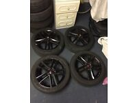 "Seat leon fr wheels 17"" genuine with like new tyres"