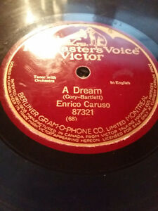 ENRICO CARUSO ONE SIDED 10'' 78 RECORD