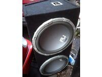 """Bass box subwoofer 2400 watt 15"""" x 2 fly vibe"""