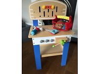 Childrens Workbench and tools