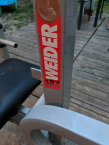 Weight bench with weghts