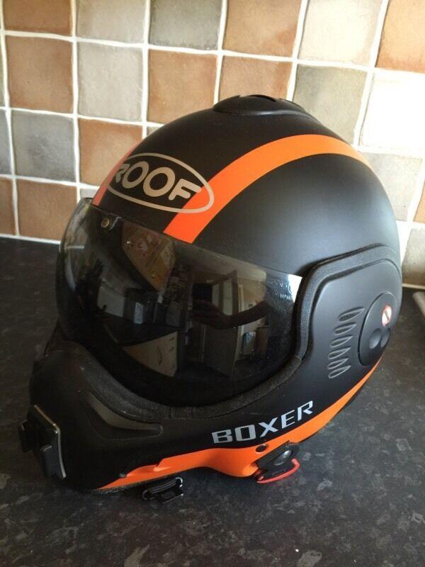 Roof Boxer V8 Motorbike Helmet Orange 60 L In Kirkby