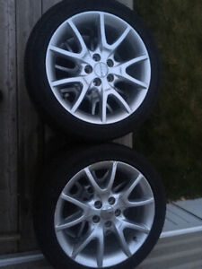 """17"""" factory rims with """"near new"""" A/S tires"""
