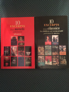 $5 for 2 books (10 excerpts from novels)