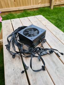 500w PSU flat black cables (think it's Aerocool cylon)