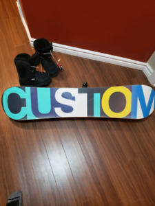 Burton snowboard custom 120 with bindings and boots