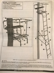 Reduced - Two (2) person Treestand (Ladderstand) $125.00