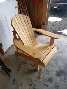 Chaise exterieur en bois