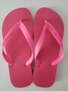 Authentic Havaianas classic flip flop 37-38 bright pink