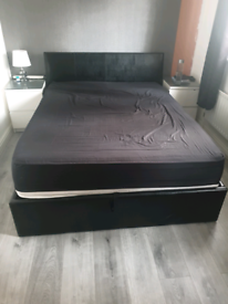 Ottoman double storage bed