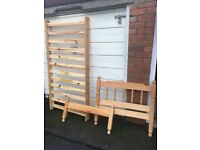 PINE SINGLE BED ** FREE DELIVERY THURSDAY NIGHT **