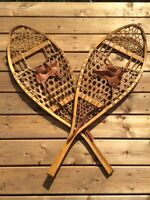 Beautiful Antique Rawhide Snowshoes