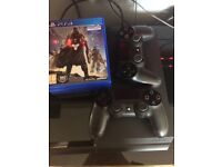 PlayStation 4 500GB. 2 Controllers 3 Games