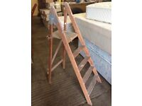 Wooden stepladders ideal shabby chic project