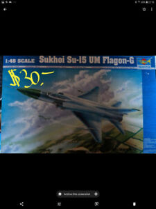 Plastic Models, Aircraft, 1/32 scale. Cars 1/24 scale.