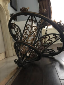 MASSIVE Foyer Hall 12 Light Cast Iron Filigree Chandelier