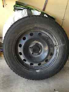 4 new 225/60R17 99s Winterforce winter tires on Rims
