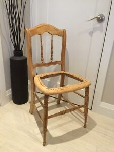 Small maple frame chair project