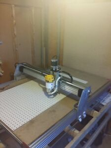 cnc router / plasma table with injection molder