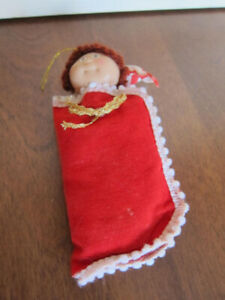 Ornement de Noel, Bout choux /cabbage patch doll 1980