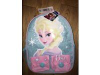 Disney's Frozen Elsa Ruck Sack (Aqua) BNWT