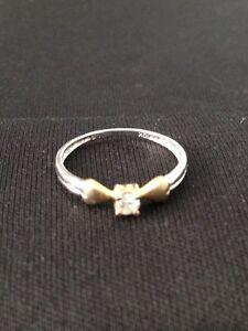 Two-tone 10 k Diamond Ring London Ontario image 1