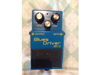 Boss BD2 blues driver overdrive pedal (boss, mxr, distortion, pedals)