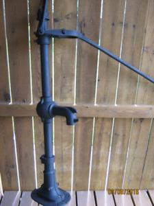 Unusual Old Well Pump, Steel Handle, 1800's