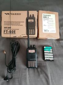 Yaesu ft60 handheld transceiver